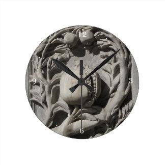 Stone Carved Art Granada Round (Medium) Wall Clock