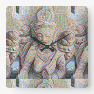 Stone carved dakinis Thunder_Cove Square Wall Clock