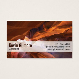 Stone Cave Walls - Red Business Card