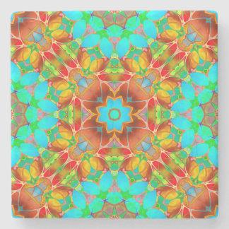 Stone Coaster Floral Fractal Art G410