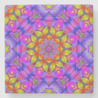 Stone Coaster Floral Fractal Art G445