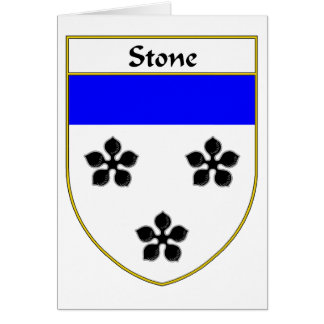 Stone Coat of Arms/Family Crest Greeting Card