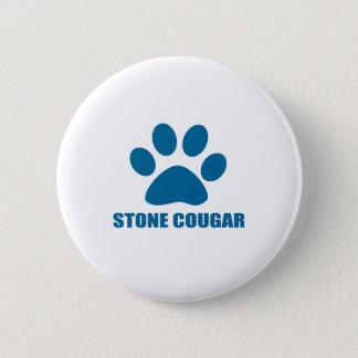 STONE COUGAR CAT DESIGNS 2 INCH ROUND BUTTON
