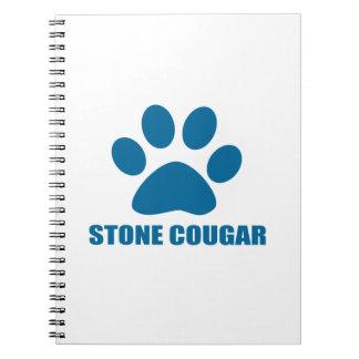 STONE COUGAR CAT DESIGNS NOTEBOOKS