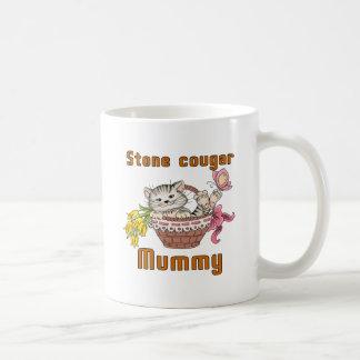 Stone cougar Cat Mom Coffee Mug