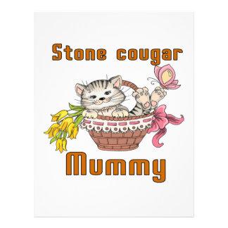 Stone cougar Cat Mom Letterhead Template