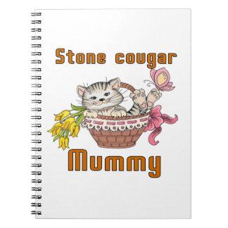 Stone cougar Cat Mom Note Books
