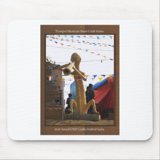 stone craft statue of street musician festivals mouse pad