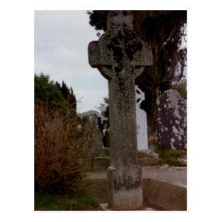 Stone Cross, Glendalough, Wicklow, Ireland Postcard