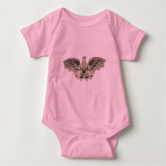 Stone Eagle Sculpture Baby Bodysuit