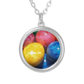 Stone Easter Eggs Silver Plated Necklace