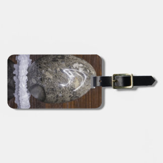 Stone Egg Luggage Tag