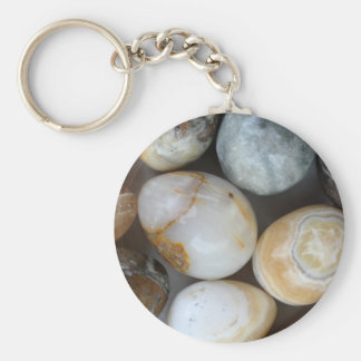 stone eggs basic round button keychain