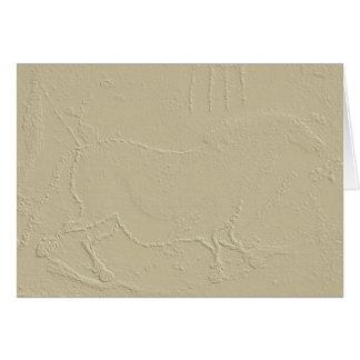 Stone Embossed Caveman Horse Greeting Card