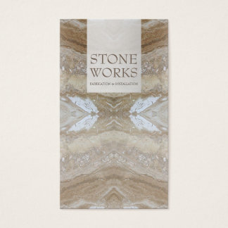 Stone Fabrication Works Luxurious Business Card
