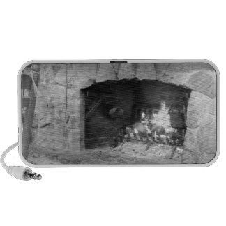 Stone Fireplace Hearth Photo Notebook Speakers