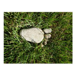 Stone foot postcard