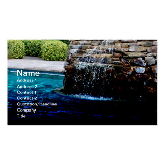 stone fountain in an in-ground pool pack of standard business cards