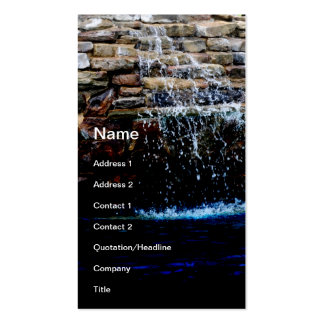 stone fountain in an in-ground swimming pool pack of standard business cards
