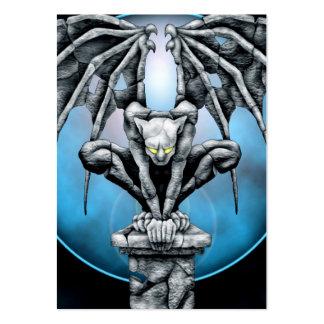 Stone Gargoyle with Blue Moon Business Card Templates