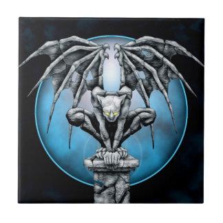 Stone Gargoyle with Blue Moon Tile