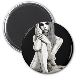 Stone girl 2 inch round magnet