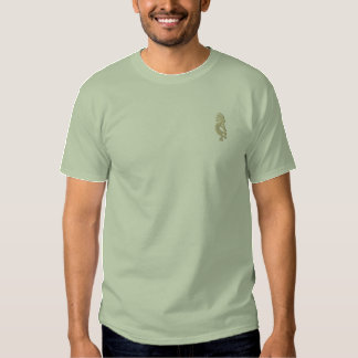 Stone Green Kokopelli Embroidered Shirt