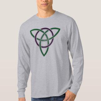 Stone Green Trinity Knot Long Sleeve T-Shirt