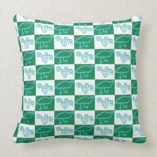 Stone guinea fowl throw pillow