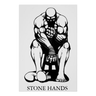 Stone Hands Boxer Poster
