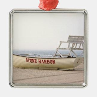 Stone Harbor Lifeguard Boat Ornament