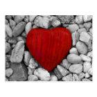 Stone heart postcard
