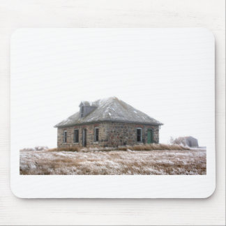 Stone Home abandoned on the prairies Mouse Pad