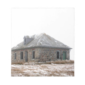 Stone Home abandoned on the prairies Notepad