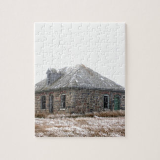 Stone Home abandoned on the prairies Puzzles