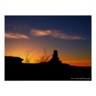 Stone Johnny Sunset 16x12 Poster