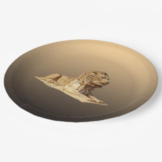 Stone Lion Paper Plate