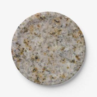 Stone Look - Granite Paper Plate