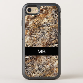 Stone Look Monogrammed OtterBox Symmetry iPhone 8/7 Case