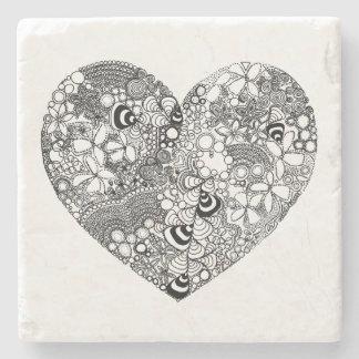 Stone Love Heart Coaster Stone Coaster