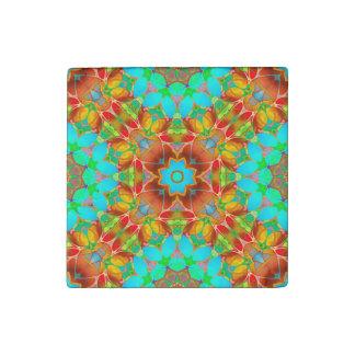 Stone Magnet Floral Fractal Art G410