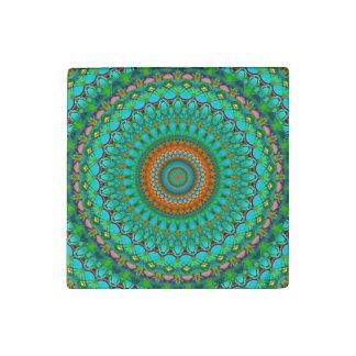 Stone Magnet Geometric Mandala G388