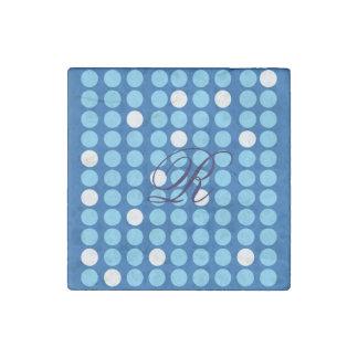 Stone Magnet Polka Dot With Monogram Stone Magnets