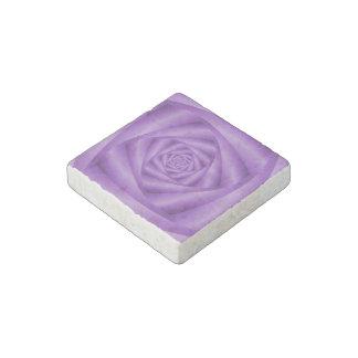 Stone Magnet   Violet Spiral