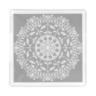 Stone Mandala Acrylic Tray
