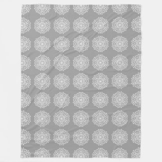 Stone Mandala Fleece Blanket