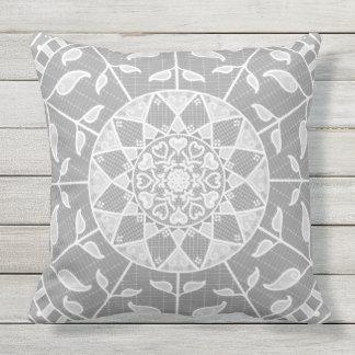 Stone Mandala Throw Pillow