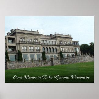 Stone Manor, Lake Geneva Wisconsin Poster