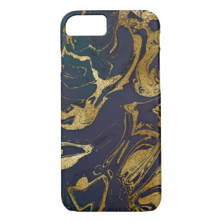 Stone Marble Blue Deep Sea Gold iPhone Samsung iPhone 7 Case
