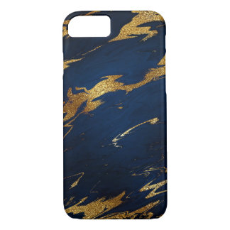 Stone Marble Blue Navy Gold iPhone Samsung iPhone 7 Case